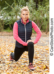 Fit woman in park