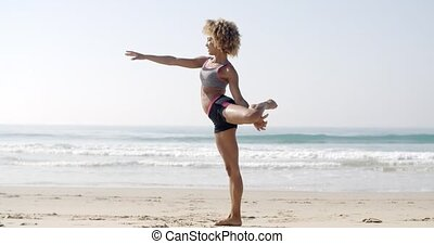 Fit Woman In Yoga Pose