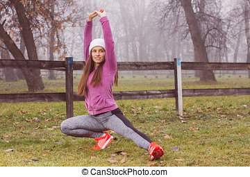 Fit Woman Outdoor Activity