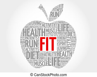 FIT word cloud - FIT apple word cloud concept