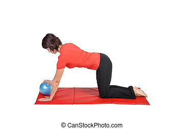 Fit young female pilates instructor