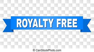 fita azul, com, royalty livre, texto