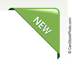 fita, negócio, canto, verde, novo