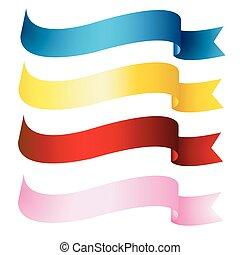 fitas, bandeiras