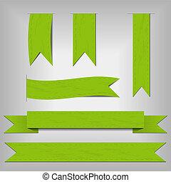 fitas, jogo, verde