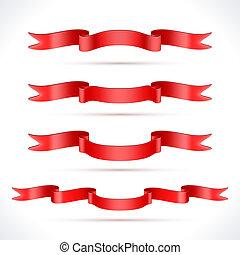 fitas, vermelho