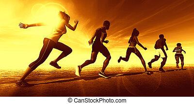 fitheid training, samen