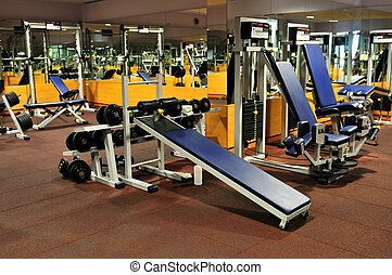 fitneßklub, turnhalle