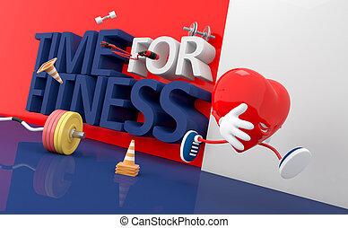 fitness., время