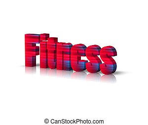 fitness 3d word