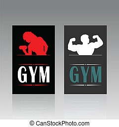 Fitness a card - Business a fitness card. A vector...