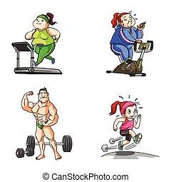 fitness, abbildung, design