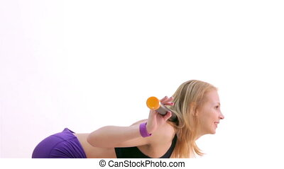 Fitness. Aerobics with body-bar