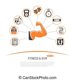 Fitness and Gym Concept