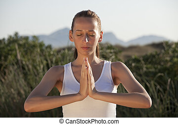 fitness and yoga exercises