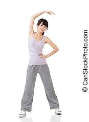 Fitness asian girl