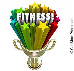 Fitness Award Trophy Winner Top Score Evaluation Prize