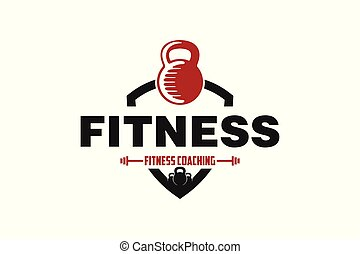 Fitness Badge Logo Designs Inspiration Isolated on White Background