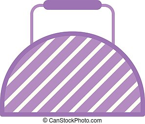 Fitness bag icon, flat style
