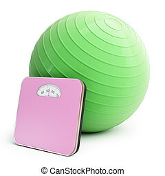 fitness ball bathroom scale