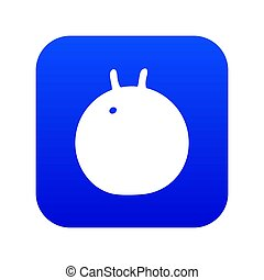 Fitness ball icon blue