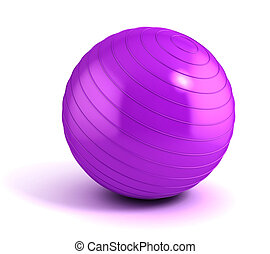 fitness ball isolated on white