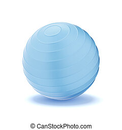 Fitness ball isolated on a white background