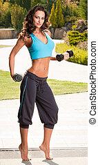Fitness beauty.