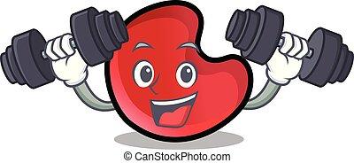 Fitness candy moon character cartoon