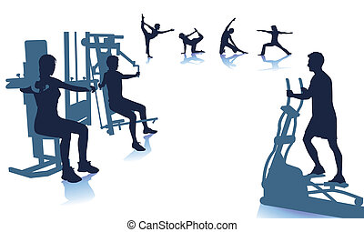 fitness center illustrations and stock art 3 789 fitness center rh canstockphoto com fitness clipart images fitness clipart black and white