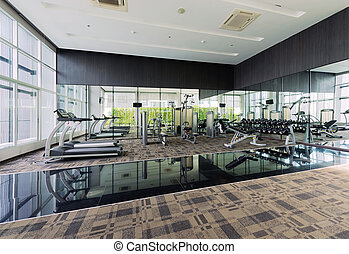 Fitness Center interior design, Gym