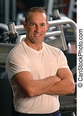 fitness center man