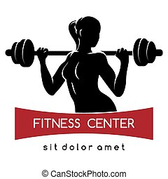 Fitness Center or Gym Logo - Fitness center or Gym emblem. ...