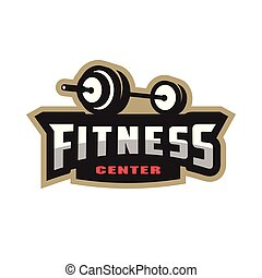 Fitness center sport logo.