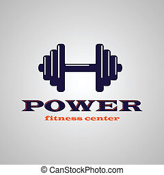 Fitness center symbol with sample text. eps10