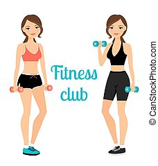 Fitness club advertising banner template