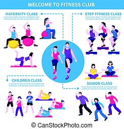 Fitness Club Classes Infographic Poster