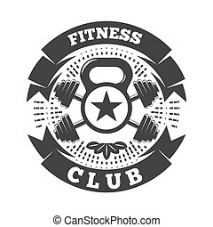 Fitness Club Logo - Fitness club logo template with...