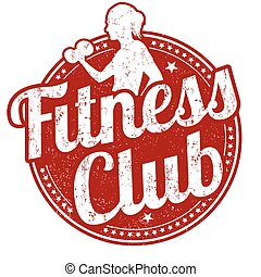 Fitness club stamp