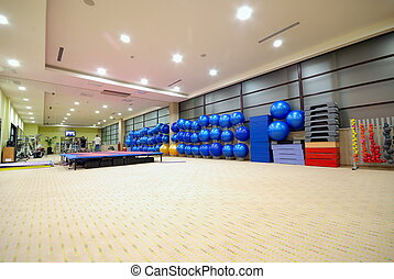 fitness club with wide angle lens