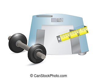 fitness concept illustration design