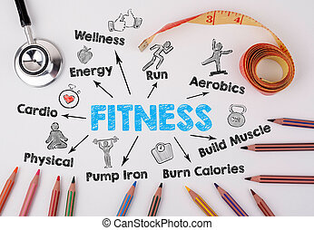 Fitness concept. Weight Loss, sport, health
