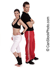 Fitness couple standing