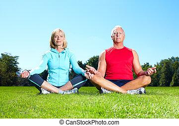 Fitness couple.