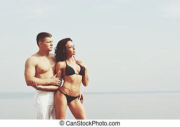 Fitness couple together.