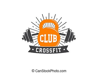 Fitness, crossfit, gym emblems, label, badge, logo and element