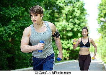 fitness, dehors