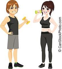 Fitness Dumbbell Couple