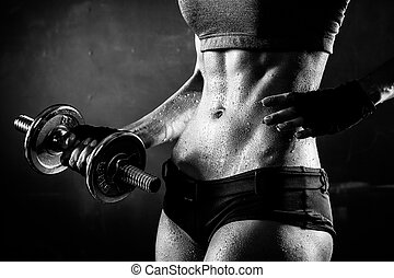 fitness, dumbbells