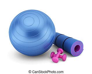 Fitness equipment. 3d illustration on white background